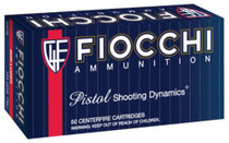Fiocchi Shooting Dynamics 9mm 124gr, Full Metal Jacket, 50rd/Box
