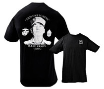 Glock Short Sleeve Ermey Gunny T-Shirt Black Medium Cotton