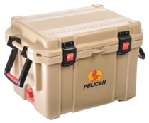 Pelican ProGear Progear Cooler 45Qt Elite Sloped Drain Fish Scale Tan