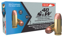 Aguila .40 S&W 180gr, Full Metal Jacket, 50rds