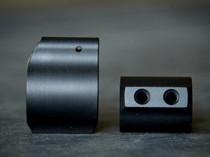 V7 Weapon Systems .625 Diameter Lightweight Titanium Gas Block Ion Bond Black