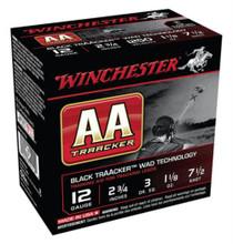 "Winchester AA TrAAcker 12 Ga, 2.75"", 1250 FPS, 1.125oz, 7.5 Shot, Black Wad, 25rd/Box"