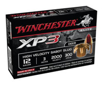 "Winchester XP3 Fully Rifled Tin Core Lead Free Slugs 12 Ga, 3"", 2100 FPS, 300gr, Sabot Slug, 5rd/Box"