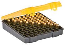 Plano Molding Flip Top Handgun Ammo Case 100rd .40S&W/45 ACP/10mm Gray/Amber