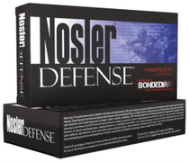 Nosler Defense Bonded 6.8mm SPC 90 Grain Bonded Solid 20rd/Box