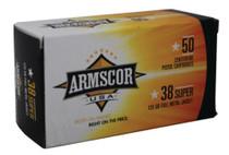 Armscor .38 Super 125 Gr, FMJ, 50rd/Box