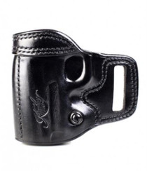 Kimber 1911 3-inch Avenger holster left hand black leather tension screw Kimber logo