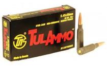 TulAmmo 5.45x39mm 60gr, FMJ, Steel Case, 20rd Box