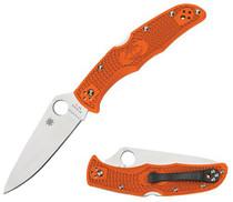 "Spyderco Endura 4 Lwt Orange Flat Ground 3.94"" FRN Handle"