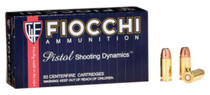 Fiocchi .32 ACP, 60 Gr, Jacketed Hollow Point, 50rd/Box