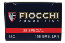 Fiocchi Pistol Shooting Dynamics 38 Special 158gr, LRN 50rd/Box