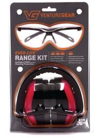Pyramex Glasses Ever-Lite Range Kit Combo PM8010 Muffs and Ever-Lite Glasses Black Frame/Pink Lens