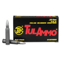 TulAmmo .223 Remington, Steel Case, HP, 62 Gr, 20rd/Box
