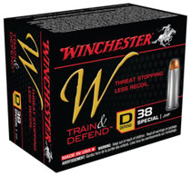 Winchester W Defend .38 Special 130 Gr, Jacketed Hollow Point, 20rd Box