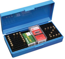 MTM 22/17 Rifle Cartridge Box Poly Blue, Handle