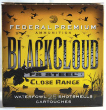 Federal Premium Black Cloud Close Range 12 Gauge 3 Inch 1450 FPS 1.25 Ounce 2 Shot 25 Per Box