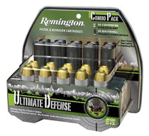 Remington Ultimate Defense 45LC/410 230gr, Brass Jacketed Hollow Point Nickel Plated, 20rd/Box