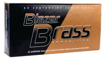 CCI Blazer Brass Ammo .40 SW 180 Gr, FMJ, Flat Nose, 50rd/Box