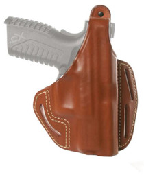 """Blackhawk Three Slot Leather Pancake Holster Brown Right Hand For Smith and Wesson M&P 9mm/.40 Four"""" Barrel"""