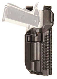 Blackhawk Level 3 Serpa Light Bearing Duty Holster Basket Weave Black Right Hand For 1911 Government Style With Or Without Rails