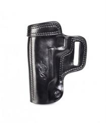 Kimber 1911 5-inch Avenger holster left hand black leather tension screw Kimber logo