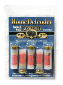 "Less Lethal Home Defense Double Ball 20 Ga, 2.75"", 5rd/Box"