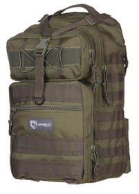 """Drago Atlus Sling Pack Backpack Tactical 600D Polyester 19""""x11""""x10"""" Gree"""