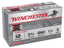 "Winchester Super-X Turkey 12 Ga, 2.75"", 1260 FPS, 1.5oz, 5 Shot Copper Plated, 10rd/Box"