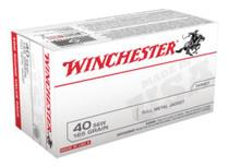 Winchester USA .40 SW 165 Gr, FMJ, 100rd/Box