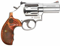 "Smith & Wesson 629 44 Mag/.44 Spl, 3"" Barrel, Stainless Finish, Wood Grips, 6Rd, Adjustable Sights"