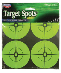 """Birchwood Casey Self-Adhesive Target Spots Atomic Green With Crosshairs, 3"""", 40 Spots"""