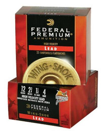 "Federal Wing-Shok High Velocity Lead 12 Ga, 2.75"", 1-1/4oz, 5 Shot, 25rd/Box"