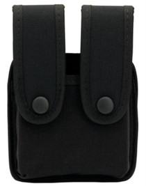 "Uncle Mike's Double Mag Pouch, Fits Belts up to 2.25"" Wide Black Nylon"