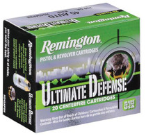 Remington Ultimate Home Defense 9mm 124gr, Brass Jacketed Hollow Point 20rd Box
