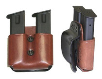Galco DMP Double Mag Paddle 22B Fits Belts up to 1.75 Black Leather