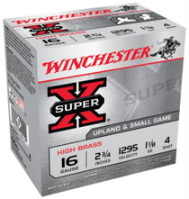 "Winchester Super-X High Brass 16 ga 2.75"" 1-1/8 oz 4 Shot 25Box/10Case"