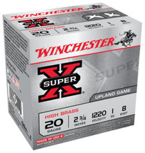 "Winchester Super-X High Brass 20 Ga, 2.75"", 1oz, 8 Shot, 25rd/Box"