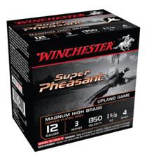 """Winchester Super-X Pheasant 12 Ga, 3"""", 1350 FPS, 1.625oz, 4 Shot, 25rd/Box"""