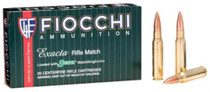 Fiocchi Exacta Rifle Match .308 Win 180 Gr, Hollow Point, Boat-tail, Matchking, 20rd/Box