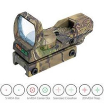 TruGlo 34mm Multi Reticle Dual Color Open Red Dot Sight Camo Finish
