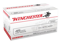 Winchester USA 45 ACP 230 Gr, FMJ, 100rd/Box