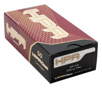 HPR Ammunition Hyperclean .45 Colt 250 Gr, Total Metal Jacket, 50rd/Box