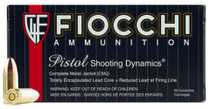 Fiochhi 9mm, 115 Gr, CMJ, 50rd/Box