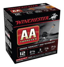 "Winchester AA TrAAcker 12 Ga, 2.75"", 1250 FPS, 1.125oz, 7.5 Shot, Orange Wad, 25rd/Box"