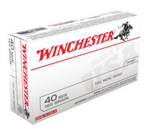 Winchester USA .40 SW 165 Gr, FMJ, 50rd/Box