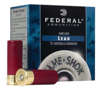 "Federal Game Shok High Brass Lead 20 ga 2.75"" 1 oz 4 Shot 25Bx/10Cs"