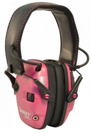 Howard Leight Impact Sport Pink Electronic Muff 22dB Overhead Band