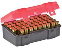 Plano Molding Flip Top Handgun Ammo Case 50rd .41 Mag/.44 Mag/.45 Long Colt Gray/Rose, 6 Pack