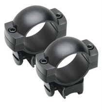 "Weaver Mounts Weaver Style Rings Standard Medium 1"" Diameter, Matte Black"
