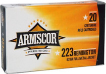 Armscor .223 62gr, FMJ, 20rd/Box